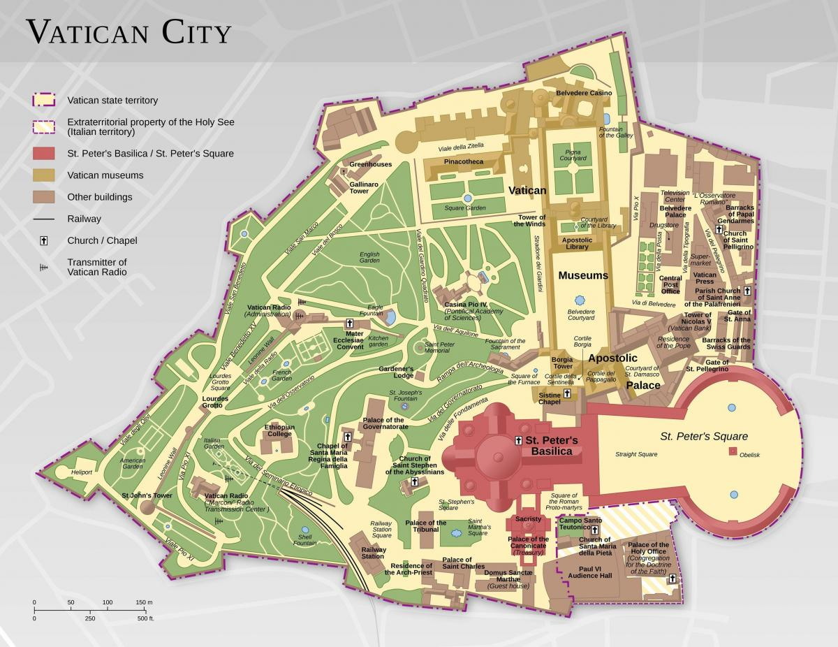 mapa ng vatican city at Rome